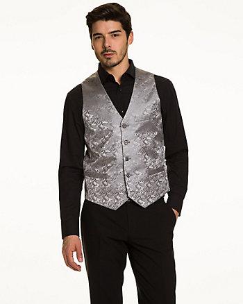 Paisley Jacquard Reversible Vest