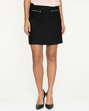 Stretch Woven Mini Skirt