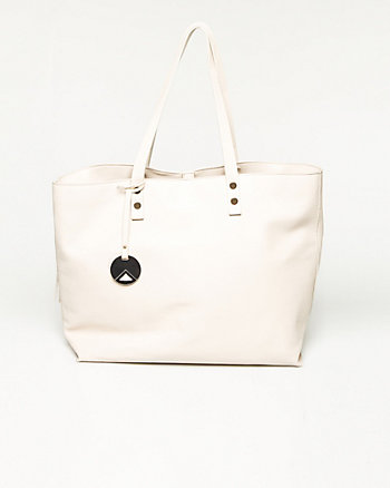 Smooth Leather-Like Tote