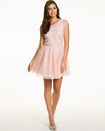 Shimmering Soutache Mini Dress