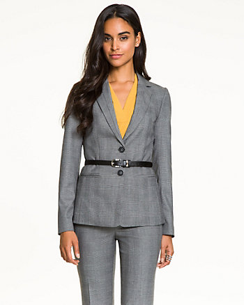 Glencheck Notch Collar Blazer