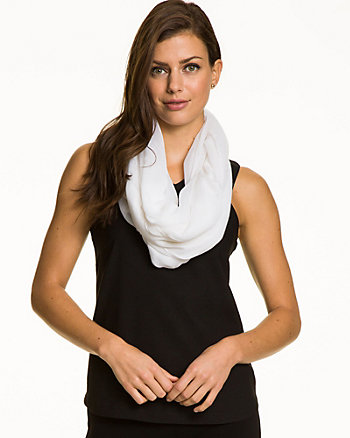 Lightweight Voile Infinity Scarf