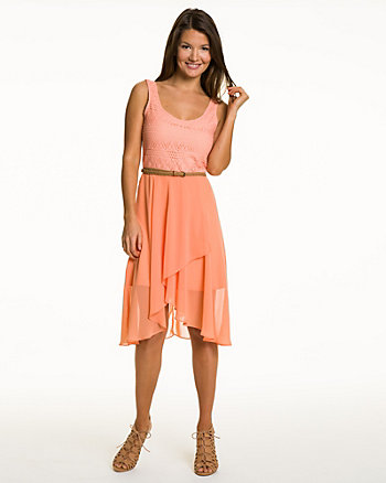 Chiffon Eyelet Dress