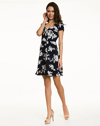 Daisy Cluster Button-Front Dress