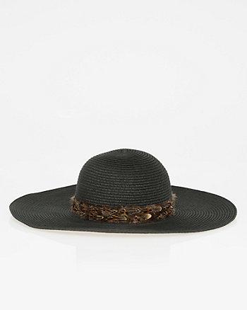 Woven Wide Brim Floppy Hat