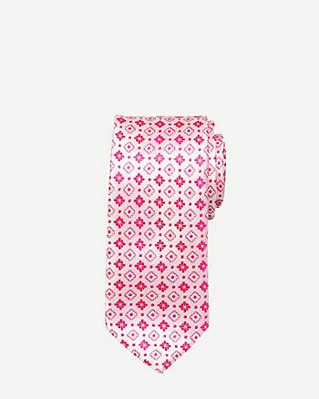 Floral Microfibre Skinny Tie