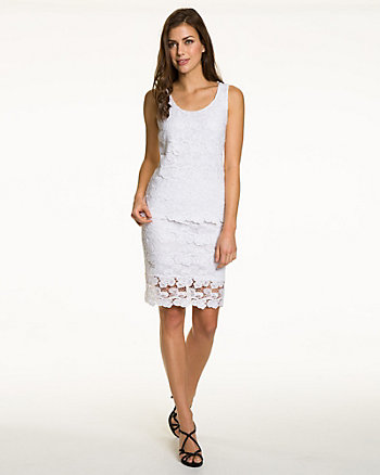 Lace & Knit Sleeveless Combo Top