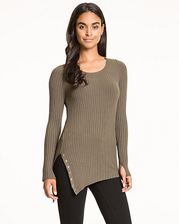 Viscose Blend Scoop Neck Sweater