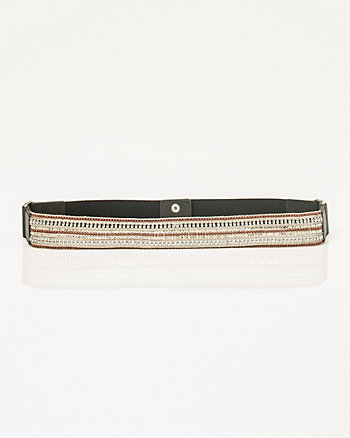 Elastic Beaded Belt