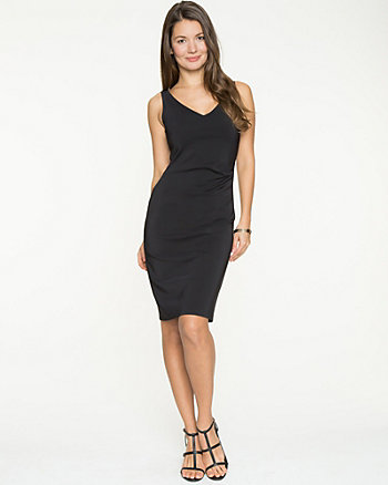 Stretch Double Weave Shift Dress