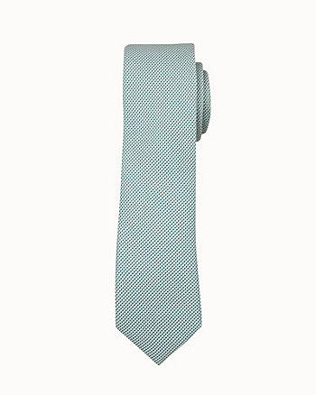 Cravate étroite en microfibre deux tons