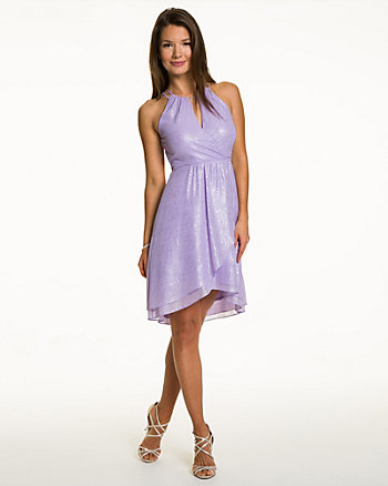Chiffon Key Hole Cocktail Dress