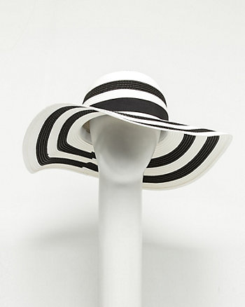 Paper Two-tone Floppy Hat