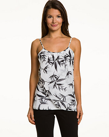 Tropical Print Chiffon Camisole