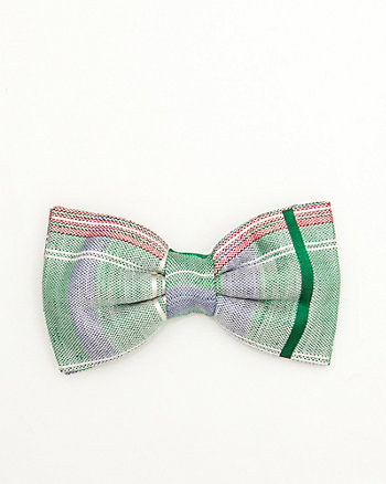Plaid Silk Blend Bow Tie