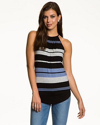 Stripe Jersey Halter Top