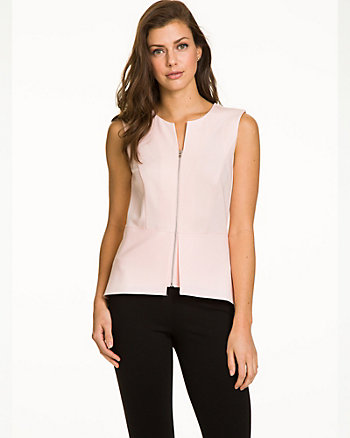 Stretch Ponte Peplum Top