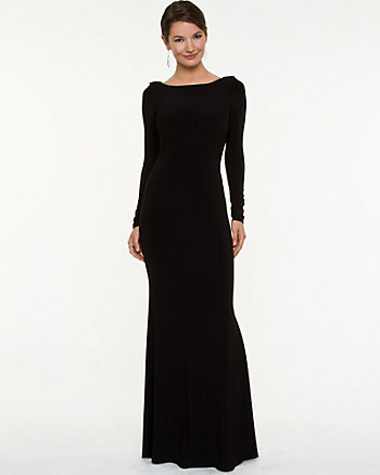 Knit Cowl Back Gown