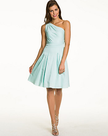 Cotton Sateen Fit & Flare Dress