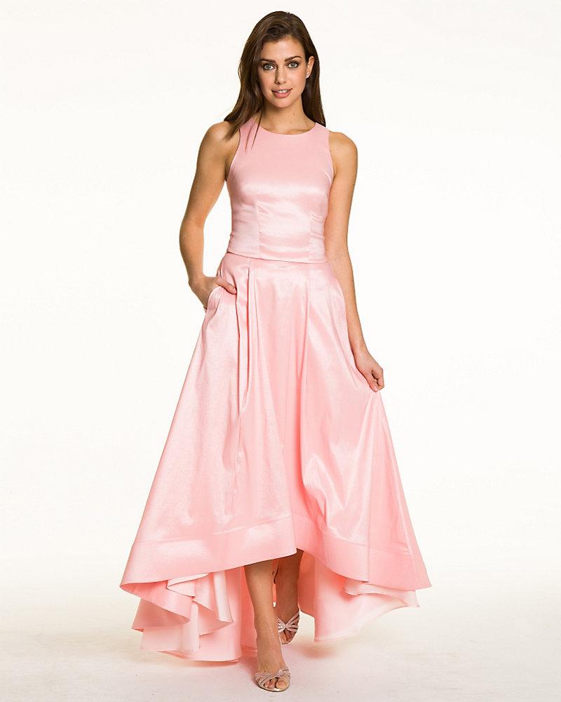 6575facefa0a7 LE CHÂTEAU: Taffeta Crop Top & Skirt Set