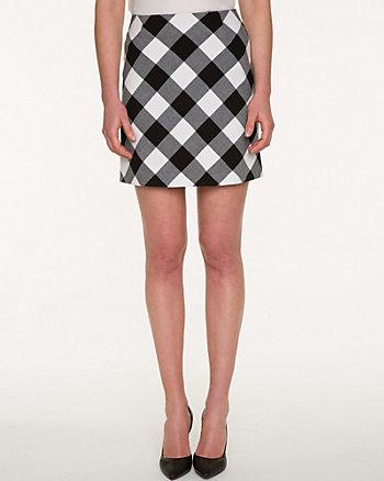 Gingham Double Weave Mini Skirt