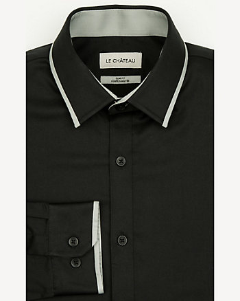Cotton Sateen Slim Fit Shirt