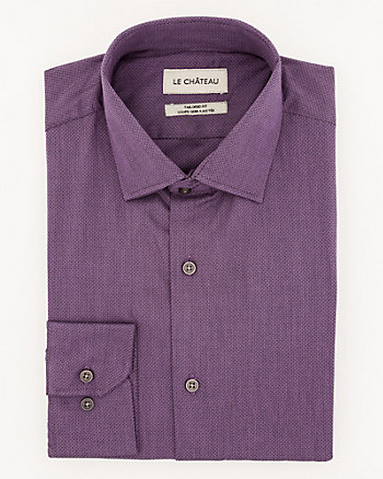 Jacquard Cotton Tailored Fit Shirt