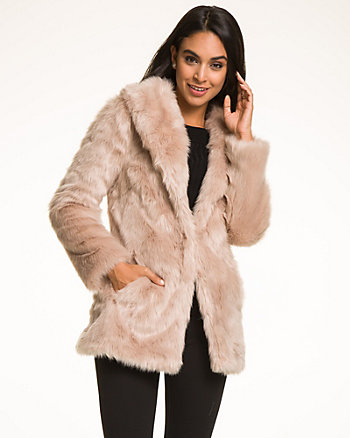 Faux Fur Nubby Coat