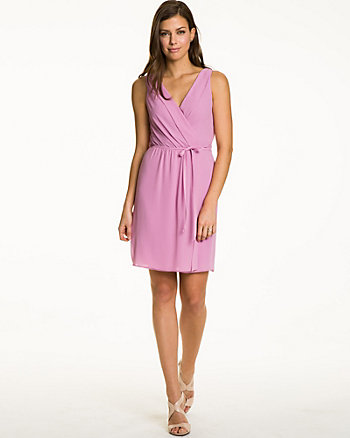 Woven Sleeveless Wrap Dress