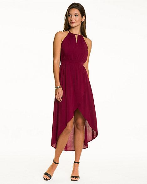 3896ff64e6a Challis Halter High-Low Dress
