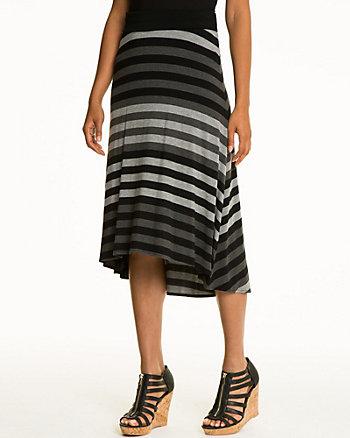 Stripe Jersey A-Line Skirt