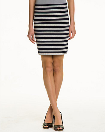 Stripe Jersey Mini Skirt