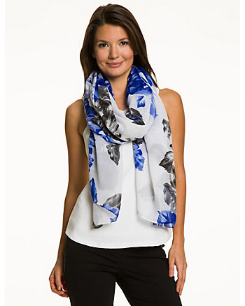 Floral Voile  Scarf