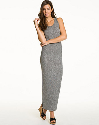 Jersey Knit Racer Back Maxi Dress