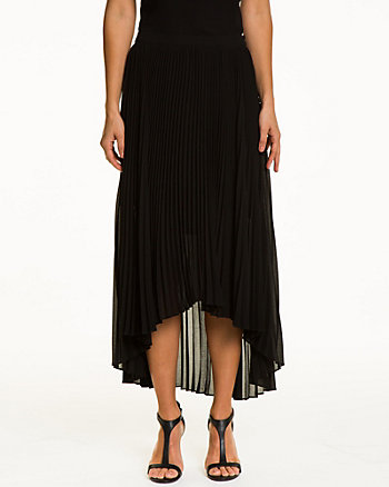 Pleated Chiffon Flared Skirt