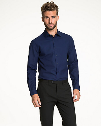 Cotton Tonal Tailored Fit Shirt