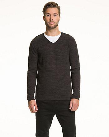 Chandail à encolure en V en tricot