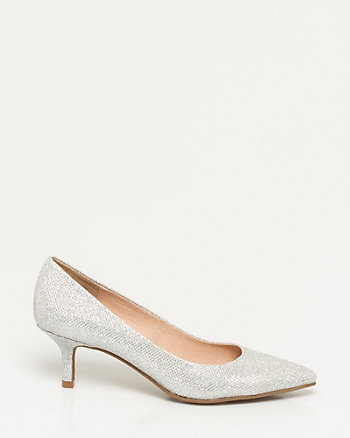 Glitter Mesh Pointy Toe Pump