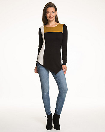 Colour Blocked Asymmetrical Sweater