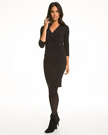 Knit Faux Wrap Dress