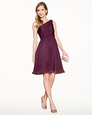 Chiffon One Shoulder Cocktail Dress
