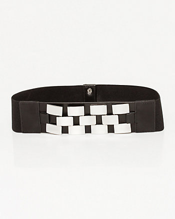 Leather-Like Elastic Belt