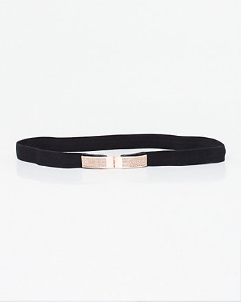 Jewel Embellished Elastic Belt