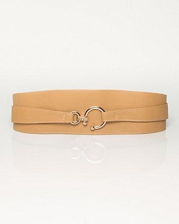 Leather-Like Obi Belt