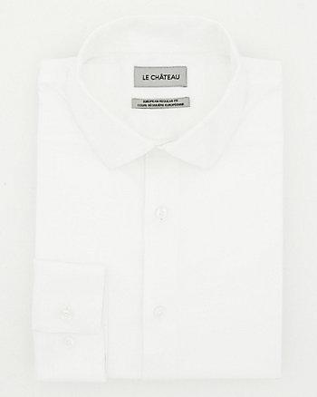 Chemise de coupe européenne en coton