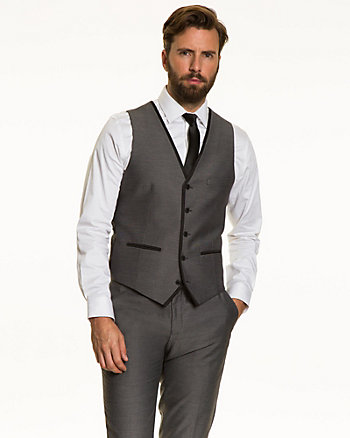 Woven Tonal Contemporary Fit Vest