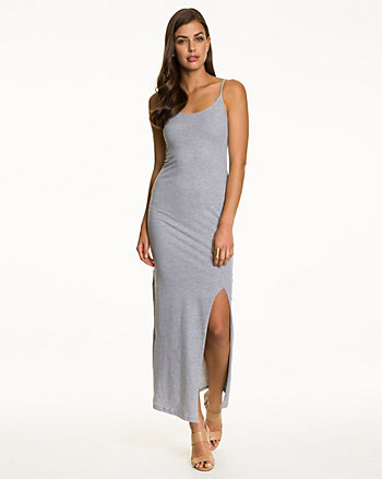 Jersey Cotton Scoop Neck Maxi Dress