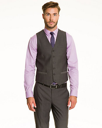 Tonal Piqué Contemporary Fit Vest