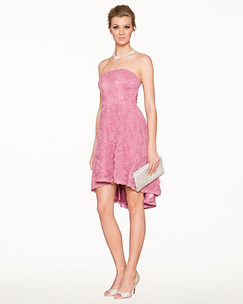 Soutache Strapless Cocktail Dress