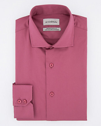 Stretch Cotton Sateen Euro Fit Shirt